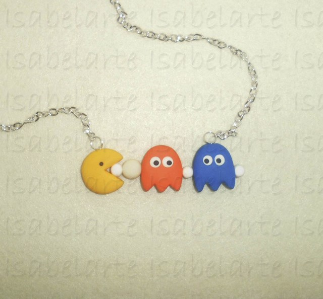 Necklace inspired by Pac-Man