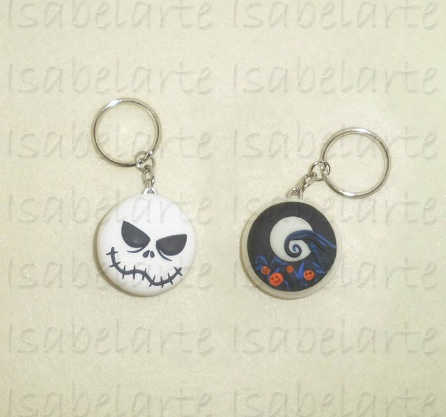 Inspired Keychain Nightmare Before Christmas Jack