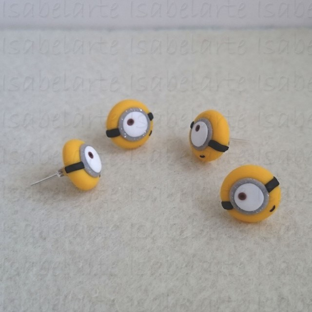 Earrings inspired by Minion