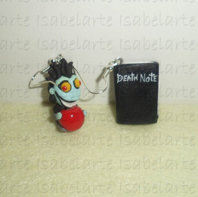 Earrings inspired by Death Note