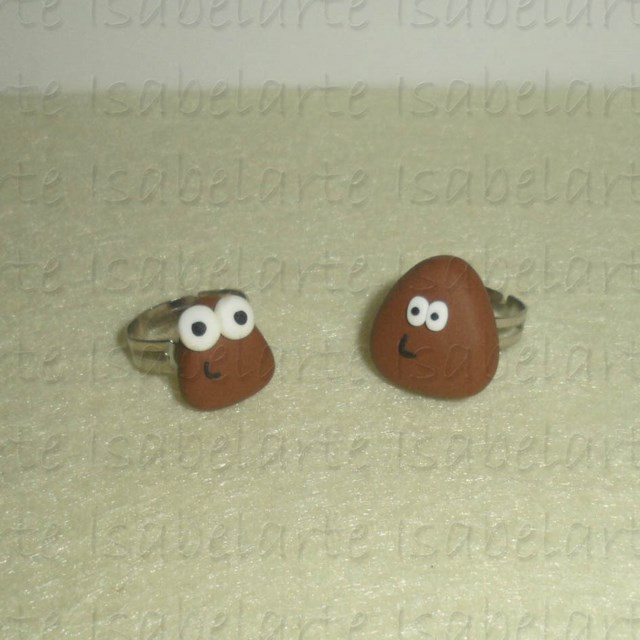 Pou inspired Ring
