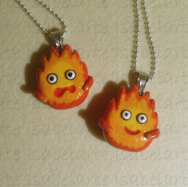 Pendant inspired by Calcifer