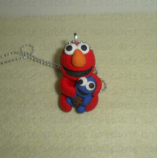 Hanging with Elmo inspired by Triki