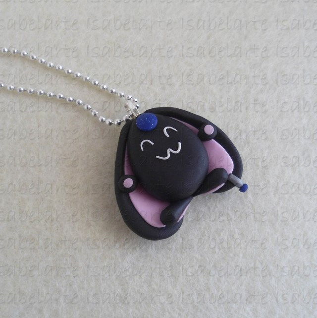 Black Mokona inspired pendant