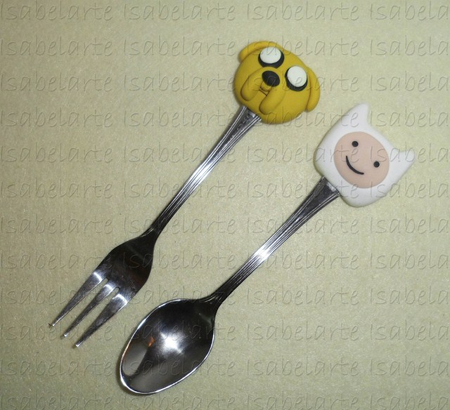 Cutlery inspired Jake and Finn