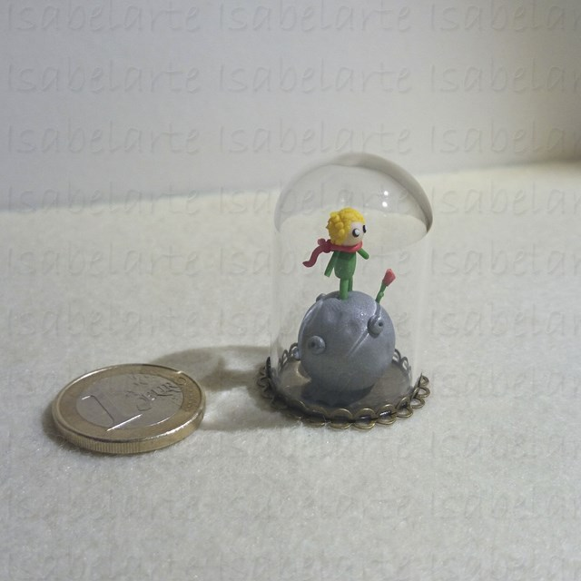 Miniature inspired by the prince in glass dome