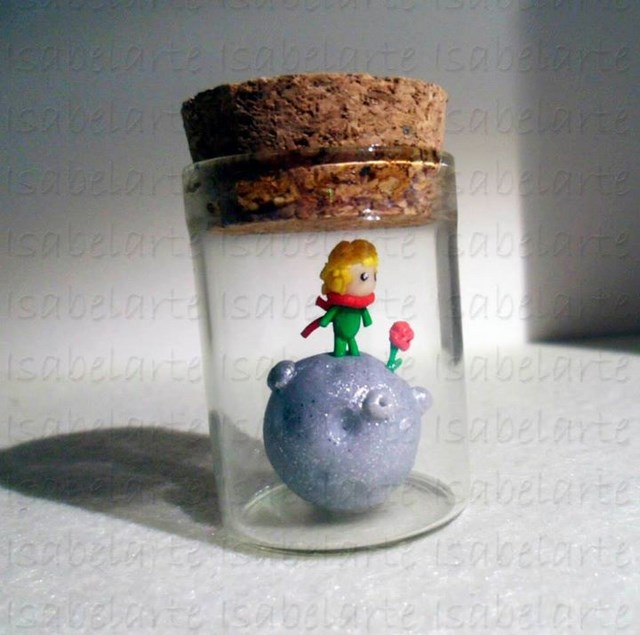 Miniature inspired by the prince in jar