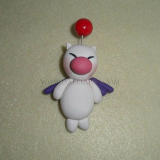 Brooch inspired by Moogle