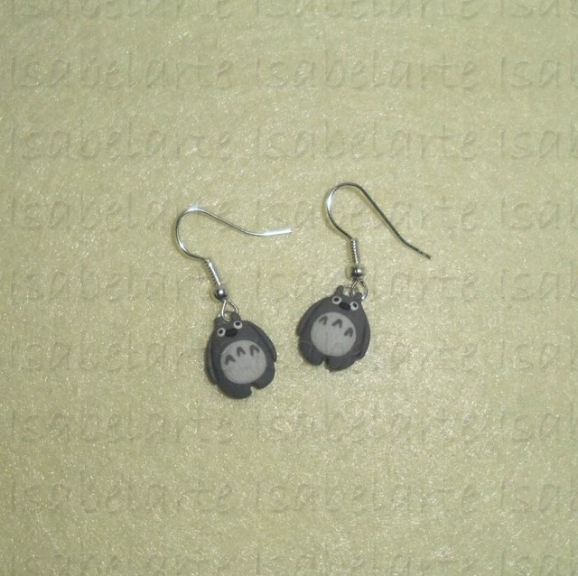 Earrings inspired mini Totoro