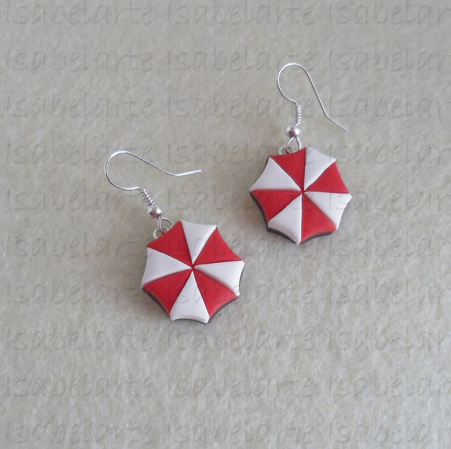 Pendientes inspirados en Umbrella Corporation